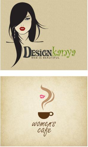 时尚优雅的女性元素标志图形设计