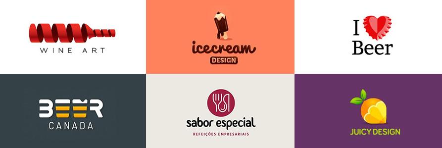 餐馆食品类创意标志设计欣赏