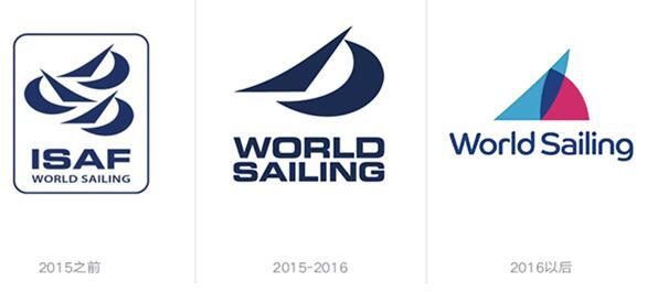 sailing则保留了一个帆船元素,同时还移除了外边框,让新标志能够更加